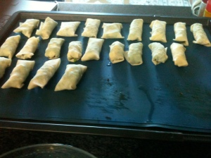 Puffs ready to be baked