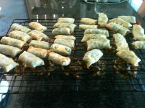 Bite-sized Chinese-Indian Burritos!